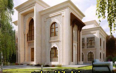 طراحی نما کلاسیک سیمانی